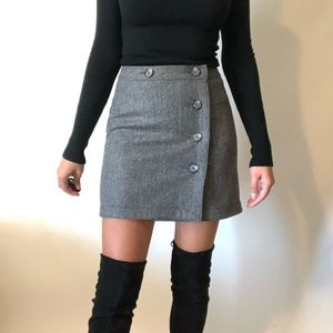 {LOFT} NWOT wool blend button skirt